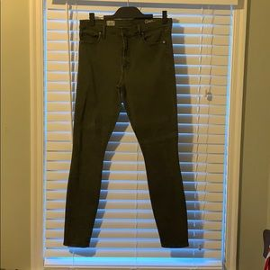 Gap skinny jeans, green denim size 8